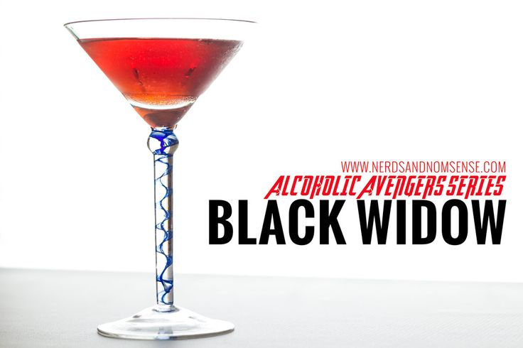 Black Widow - Alcoholic Avengers Series  Deliciously deceptive. Unwind tonight with this little cocktail.