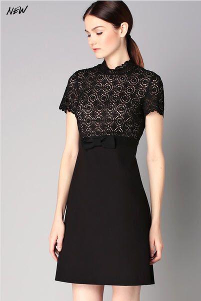 robes de mode robe noire dentelle sinequanone. Black Bedroom Furniture Sets. Home Design Ideas