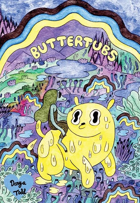Buttertubs by Donya Todd - Buttertubs is a dog who always wants to save the dudes and damsels in distress, but who always mucks it up on account of his inability to stop sweating butter. His nemesis, The Hotdog Queen, needs to watch her back, his friend Hester is always trying to stop his foolish escapades, and there are many, many damsels in distress.  All in a day's work for Buttertubs!