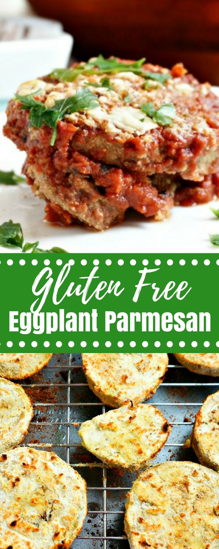 Low Carb, Gluten-Free Eggplant Parmesan: An incredibly rich, luxorious, and comforting classic made completely gluten-free and Specific Carbohydrate Diet Approved. #glutenfree #lowcarb #keto #meatless via @amindfullmom