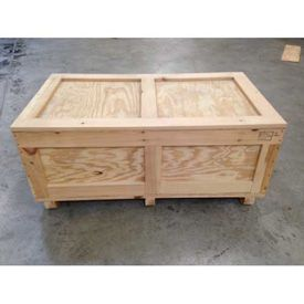 Bins, Totes & Containers | Containers-Shipping Crates | Export Certified and Heat Treat Stamped Wood Crates With Lids - GlobalIndustrial.com