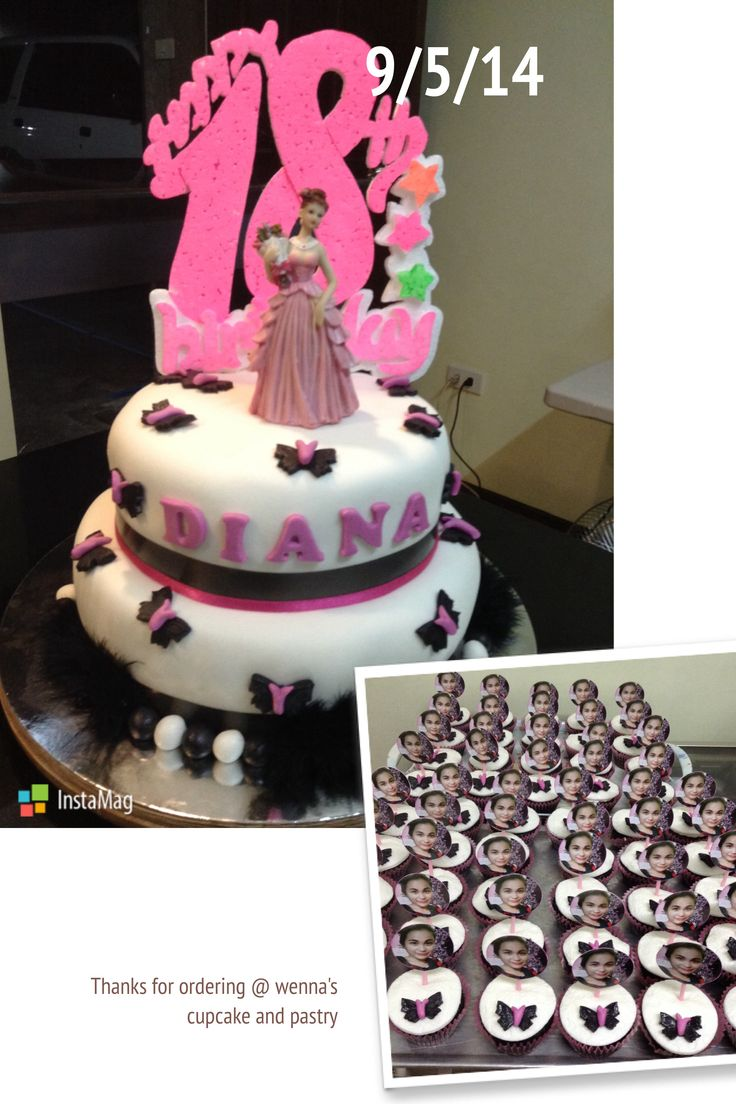 Diana's 18th bday cake