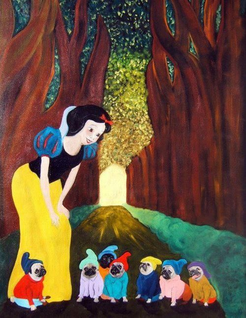 I love this one! Snow white & the Seven pugs