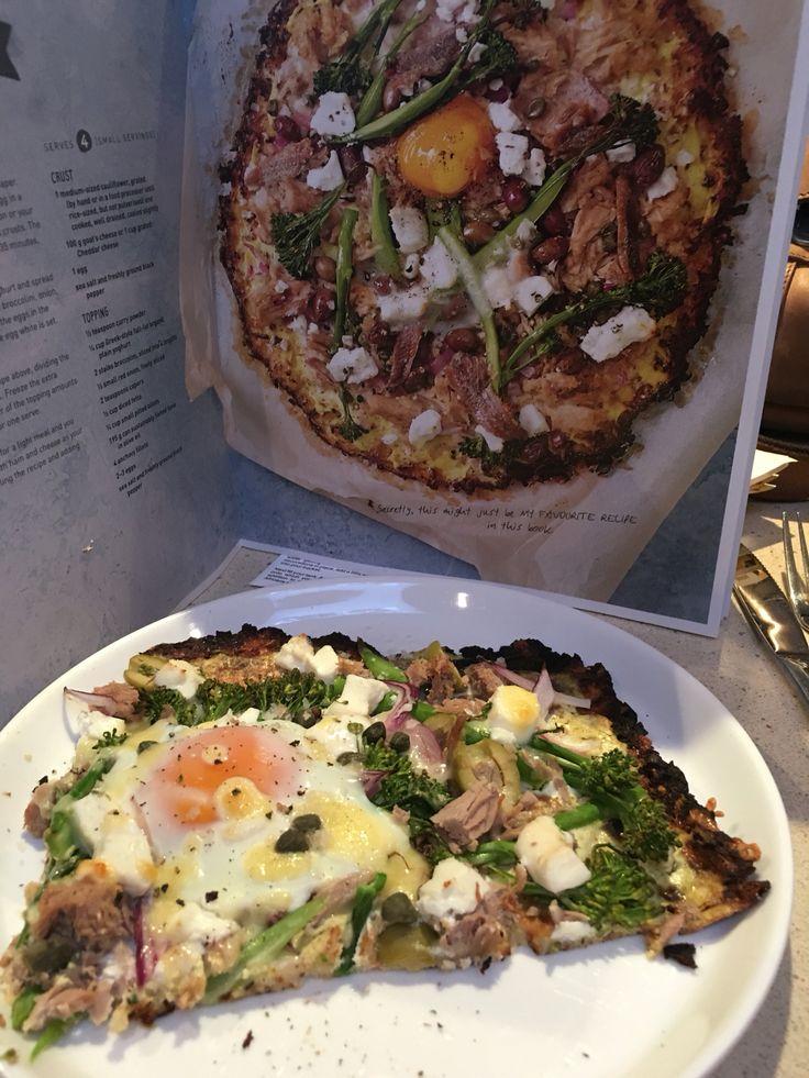 Cauliflower pizza. Mmmmmmmm Sarah Wilson - I quit sugar for life