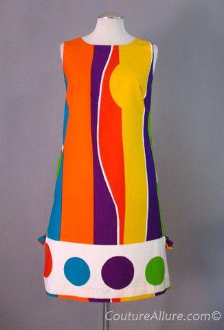 1960s cotton pop art shift dress.
