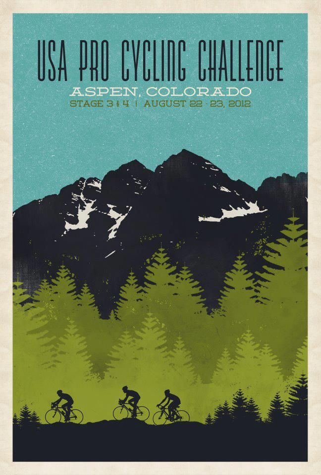 Designed by Callie Hegstrom for the 2012 USA Pro Cycling Challenge -- Aspen, Colorado