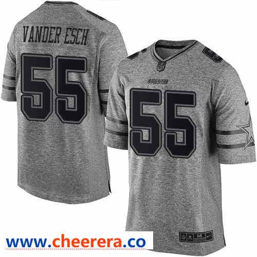 eaca11f45 Nike Dallas Cowboys  55 Leighton Vander Esch Gray Men s Stitched NFL Limited  Gridiron Gray Jersey