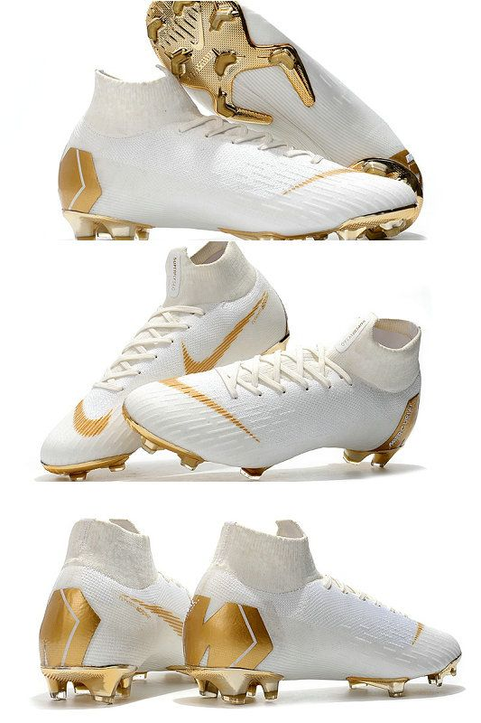 New Nike Mercurial Superfly 6 Elite Fg World Cup White Gold Best Soccer Shoes Nike Football Boots Nike Soccer Shoes