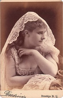 Pauline Markham, c. 1860s. Josephine said she joined Markham's theater troupe in 1879 in San Francisco before it toured to Arizona, but no record of Josephine or Sadie Marcus as a member of the group has been found.