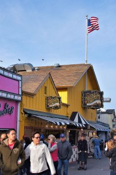 Fisherman's Wharf, Monterey, California.  Great restaurants, unique shops and bay cruises - LOVE this place!