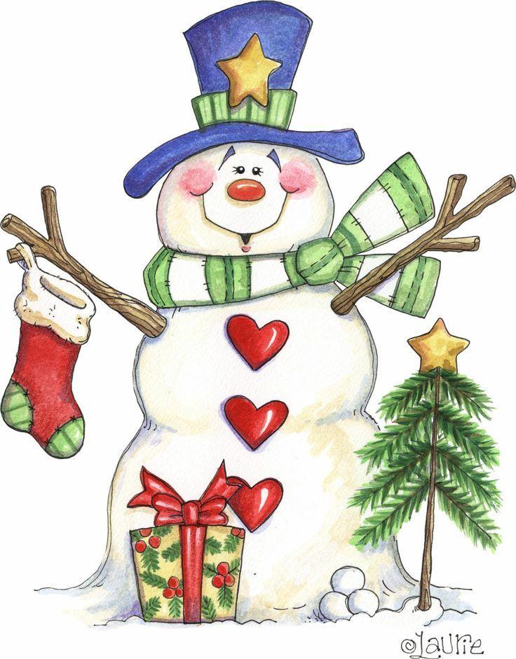snowman pinterest   Primitive Snowman Clip Art