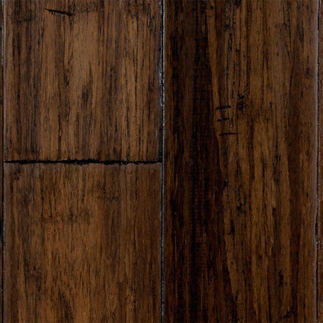 "Strand Bamboo Laminate Flooring: 1/2"" X 5"" Tianchi Click Strand Handscraped Bamboo"