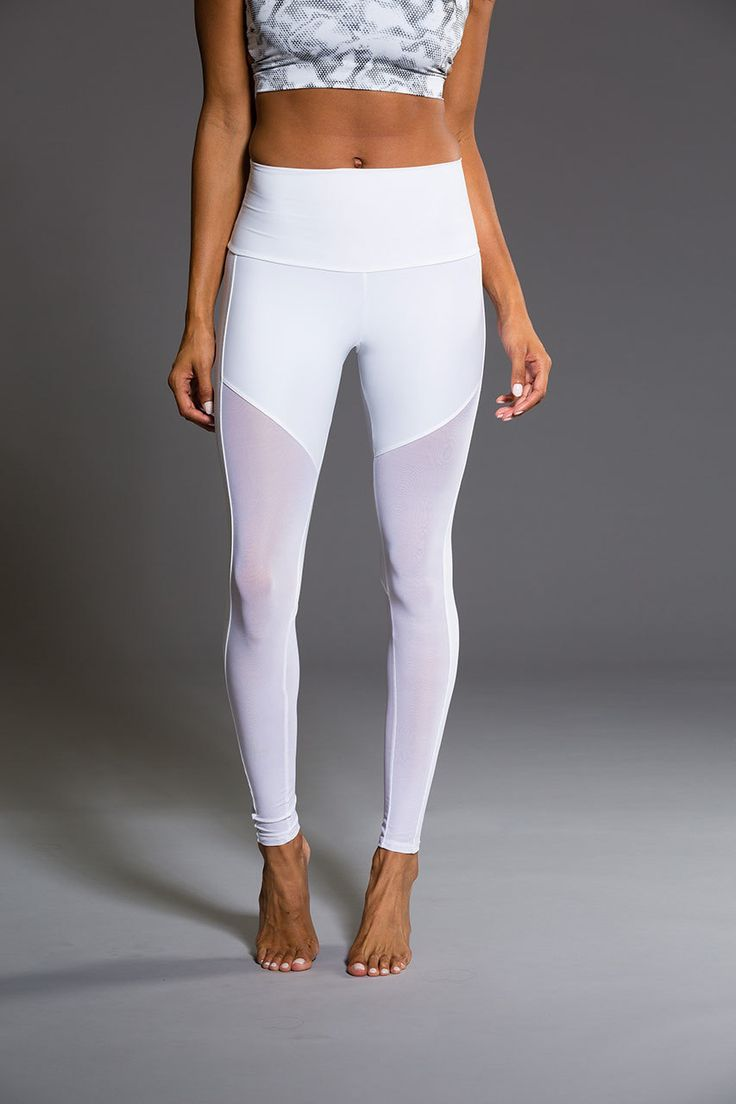 Fierce Legging - White XS Combo | Onzie use code Continuum15 for 15% off