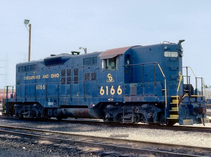 Chesapeake & Ohio (C&O), EMD GP9 diesel-electric locomotive in Riverdale, Illinois, USA