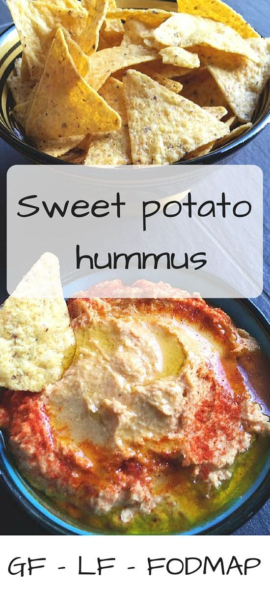 A delicious healthy hummus with sweet potato! Low FODMAP, gluten-free and lactose-free