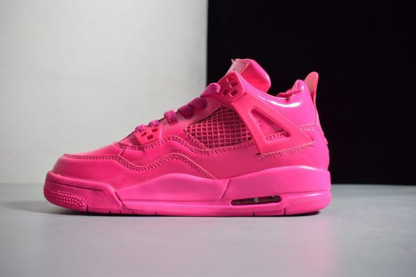 san francisco 47ae2 1d29e Air Jordan 4 Retro GS 11Lab4 Pink Patent Leather Girls Size ...
