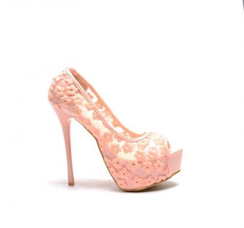 Pantofi Stone Roz -  Colectia Pantofi cu toc de la  www.cutoc.net