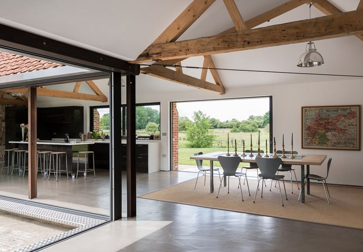 Set on the edge of the town of Eye in ten acres of water meadows, the house is designed to celebrate itsunique views and peaceful surroundings. Property This wonderful house features exposed beams and brickwork, poured concrete and oak floors, large windows and spacious, open-plan living areas. Its innovative use of ground source space and […]