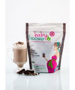 Delicious and nutritious healthy pregnancy snack: Baby Booster prenatal protein is there for you. Stay safe for both you and baby while pregnant and nursing. Keep up with your pregnancy fitness and get back into your pre-pregnancy jeans post delivery -- let Baby Booster help curb your cravings! Indulge without cheating!