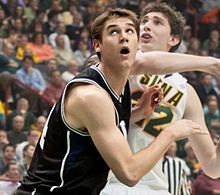 Andrew Smith (September 9, 1990 – January 12, 2016) was an American basketball player. He played in two NCAA Final Fours during his career at Butler, as well as professionally for Neptūnas. Smith died in his sleep from T-CELL LYMPHOBLASTIC LYMPHOMA  on January 12, 2016 at the age of 25