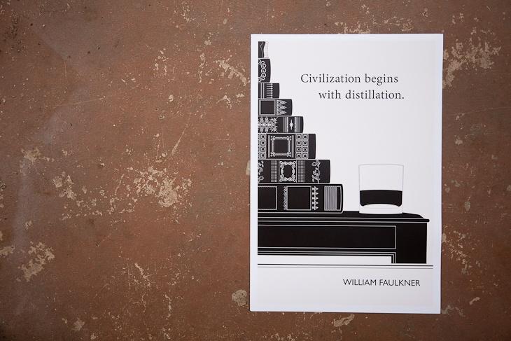 William Faulkner Distillation Quote Print by Little Brown Pen for BourbonandBoots.com