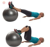 9 Best Bodyweight Exercises For Bad Knees: Hamstring Roll-ins On The Stability Ball