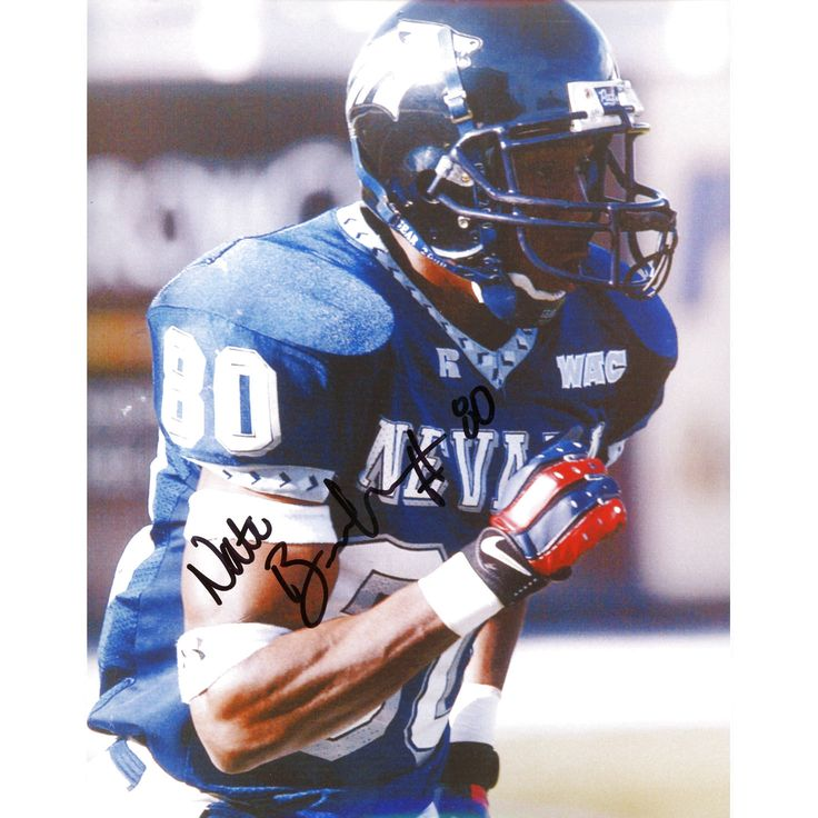 """Nate Burleson Nevada Wolf Pack Fanatics Authentic Autographed 8"""" x 10"""" Close Up Running Photograph - $15.99"""