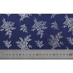 200** tradicni cesky modrotisk rucni vyroba CR   Metráž šíře 80 cm č.3624
