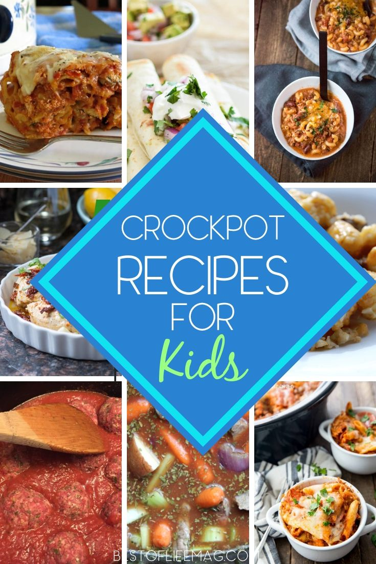Making these crockpot recipes for kids is easy and you can relax knowing they ar…