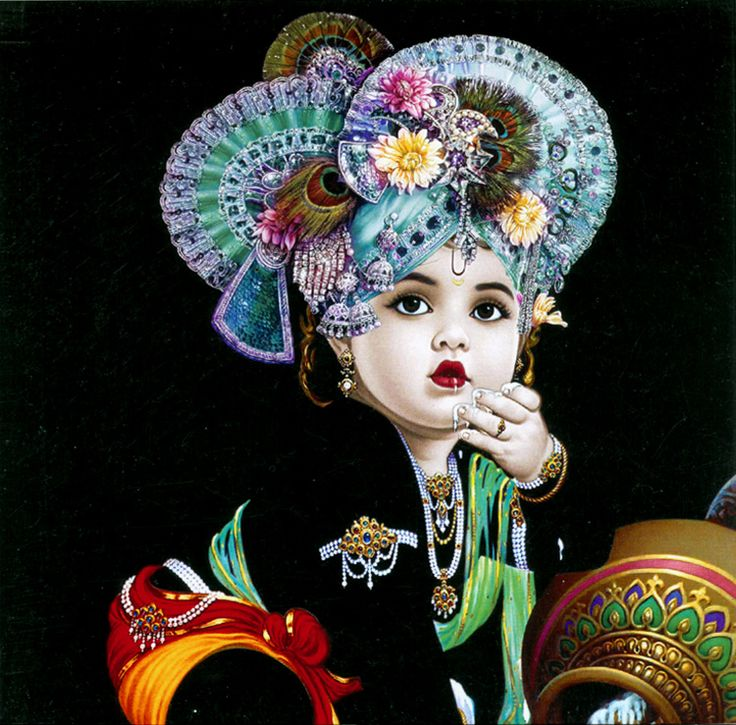 Young Krishna (Reprint on Card Paper - Unframed))