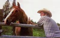 Award-winning western author Stephen Bly with horse Sundance