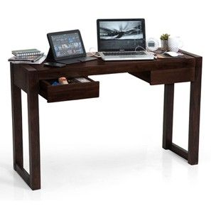 Austen Compact Desk (Mahogany Finish)