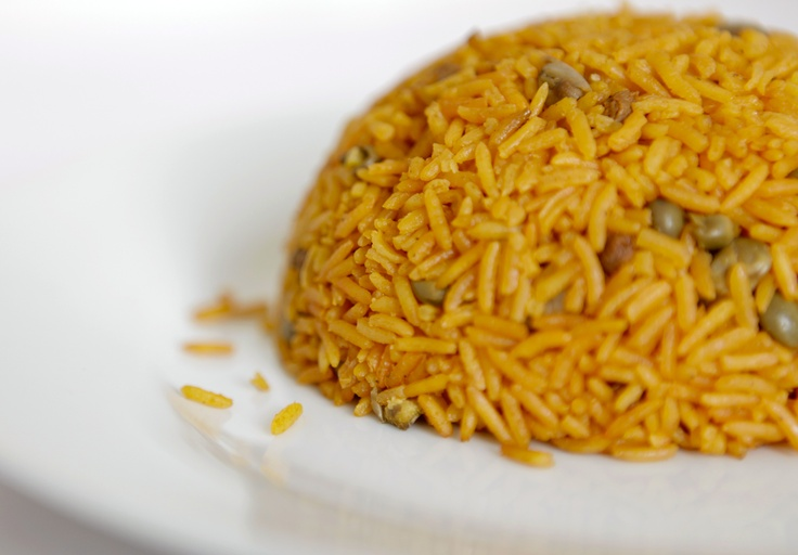 Arroz Con Gandules - Puerto Rican Style Yellow Rice with Pigeon Peas