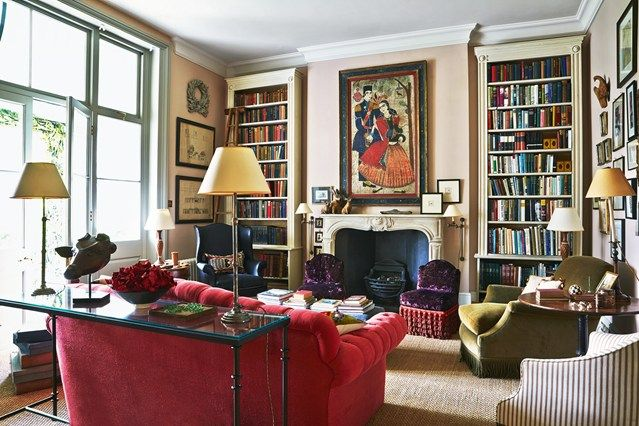 See all our stylish living room design ideas on HOUSE by House & Garden, including this drawing room with a George Smith sofa.