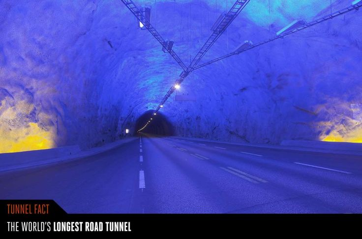 Laerdal Tunnel, Norway. The world's longest road tunnel opened in 2000…
