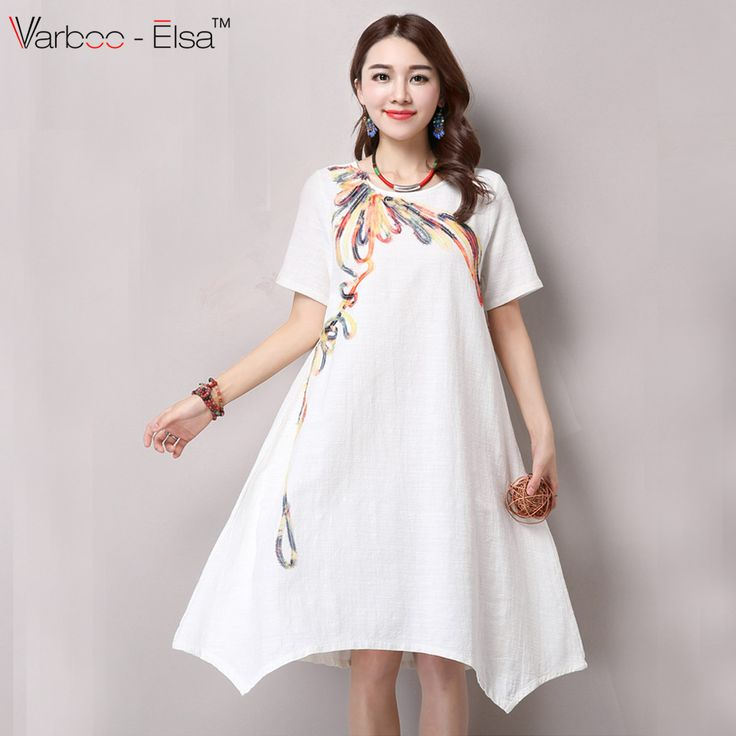 http://www.aliexpress.com/store/product/2016-New-Summer-Chinese-Style-Women-white-Dress-Short-Sleeve-Print-Loose-Plus-Size-Irregular-Cotton/230569_32707283174.htmlFind More Dresses Information about 2016 New Summer Chinese Style Women white Dress Short Sleeve Print Loose Plus Size Irregular Cotton Linen Vintage clothesBYS6042,High Quality linen pant,China linen blanket Suppliers, Cheap linen world from Sunflower Bridal 2 on Aliexpress.com