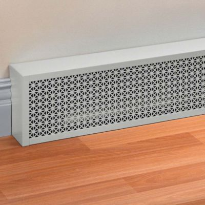 Decorative Baseboard Covers Would love these covers with the white molding.