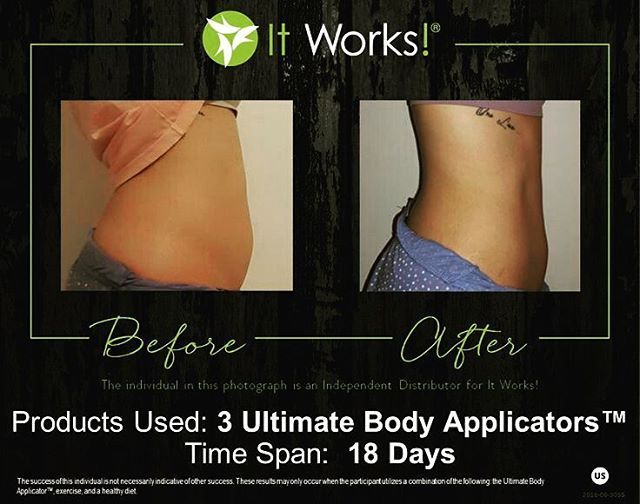 If you're still wondering if It Works wraps work, results don't lie!!! Message me to try a wrap for $25, 2 for $50 or 4 for $59 as a product tester!!!