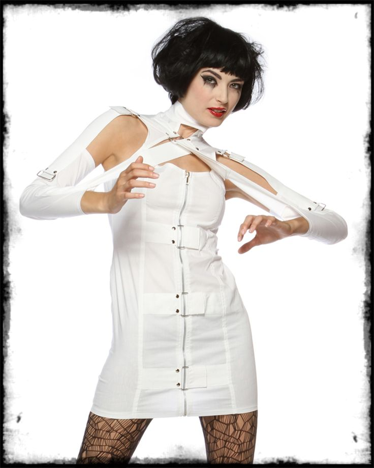 Straight Jacket Costume for Women | ... costume insane jane womens mental patient fancy dress costume a white