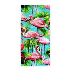 Pink Flamingo Personalized Beach Towels