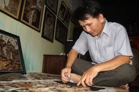 vietnam feather art - Google Search