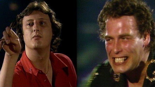 Classic darts. Eric Bristow vs Bobby George, 1980