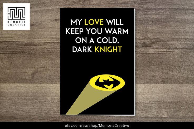 https://www.etsy.com/au/listing/201796807/i-love-you-card-batman-card-valentines #Batman #CuteCard #DarkKnight #BatmanCard #FunnyCard