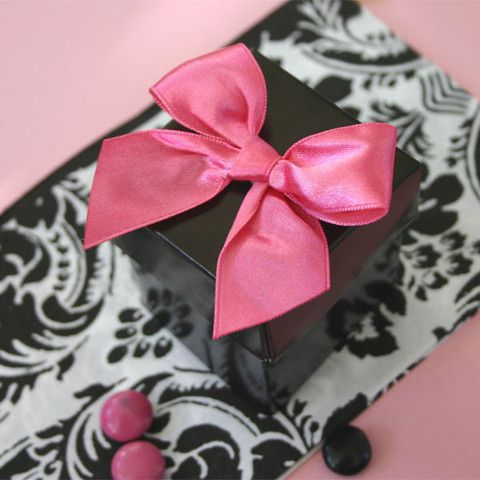 Mini Cube Boxes Candy Treat Favors - Black (set of 12)