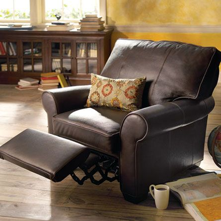 Brentwood Motion Leather Recliner In Matador Walnut Home