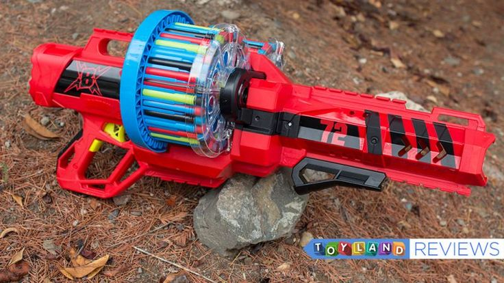 """""""It's Nerf or nothing."""" Remember that phrase? It's no longer true. Now, it's either Nerf or this giant honking Sylvester Stallone-in-Rambo machine gun that rains down 72 rounds of flying rubber. Behold: the BOOMco Colossal Blitz."""