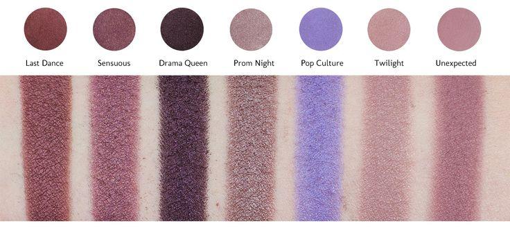 Makeup Geek Eyeshadow Pan - Last Dance - Sensuous - Drama Queen - Prom Night - Pop Culture - Twilight - Unexpected