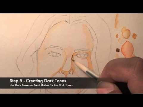 How to paint Watercolor Portraits