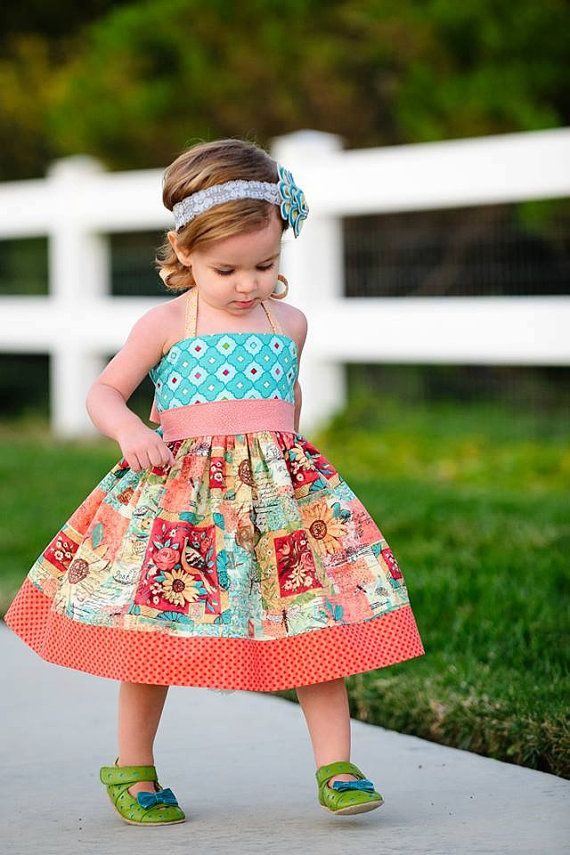 Elise Halter Dress Sewing Pattern Girls Dress by littlelizardking, $10.00