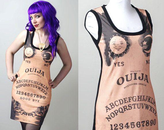custom Ouija spirit board tank dress  by smarmyclothes on Etsy